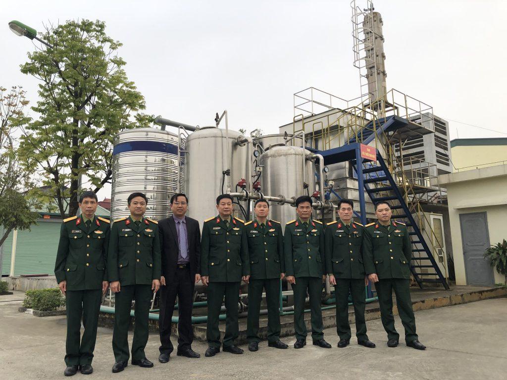 Hệ thống (trạm) xử lý nước sinh hoạt công suất 30m3/ngày đêm – Kho KV2/Cục Quân khí/TCKT