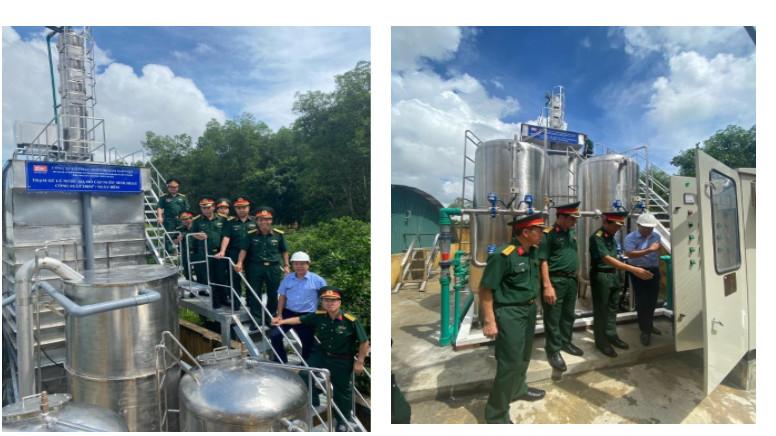 Trạm xử lý nước sinh hoạt (nước mặt) công nghệ AOPs công suất 250 m3/ngđ - Kho K816 Cục Quân khí/TCKT.