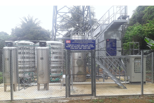 Trạm xử lý nước sinh hoạt công nghệ ô xy hóa sâu và nâng cao AOPs công suất 30 m3/ngày đêm Kho K826/Cục Quân khí (Hải Vân, Như Thanh, Thanh Hóa)